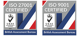 ISO 27001 and ISO 9001 certification logos